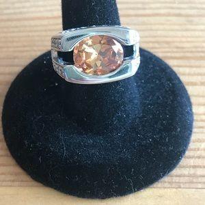 Gorgeous Cognac stone fashion ring.